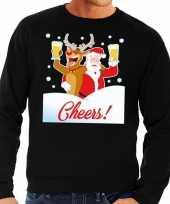 Lelijke kersttrui cheers dronken kerstman rudolf heren 10129098