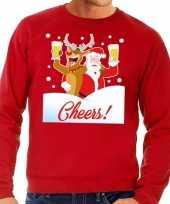 Lelijke kersttrui cheers dronken kerstman rudolf heren 10129099