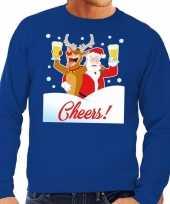 Lelijke kersttrui cheers dronken kerstman rudolf heren 10130530