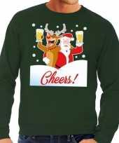 Lelijke kersttrui cheers dronken kerstman rudolf heren