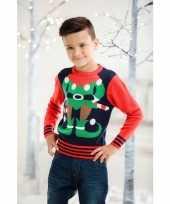 Lelijke kersttrui elfje kids