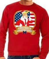 Lelijke kersttrui rood trump christmas is gonne be huge heren