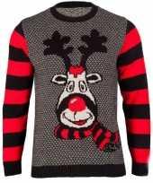 Lelijke kersttrui rudy reindeer dames