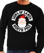Lelijke kersttrui zwart motorclub kerstman heren