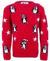 Lelijke kinder kersttrui pinguins