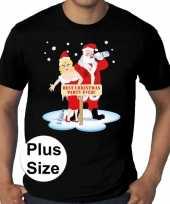 Plus size fout kerstborrel trui kerst trui best christmas party ever zwart heren