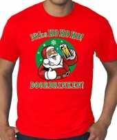 Plus size fout kerstrui zuipende kerstman niks ho ho ho doordrinken rood heren