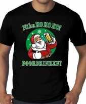 Plus size fout kerstrui zuipende kerstman niks ho ho ho doordrinken zwart heren