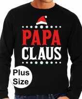 Plus size lelijke kerstborrel trui kersttrui papa claus zwart heren