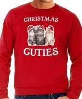 Rode kersttrui kerstkleding christmas cuties heren