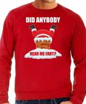 Rode kersttrui kerstkleding did anybody hear my fart heren grote maten