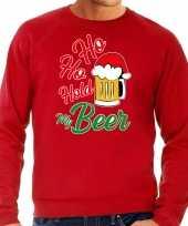 Rode kersttrui kerstkleding ho ho hold my beer heren grote maten