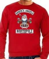 Rode kersttrui kerstkleding santas angels northpole heren grote maten