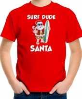 Rood kerstrui kerstkleding surf dude santa kinderen