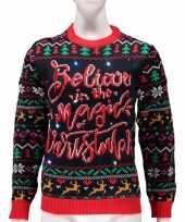 Verlichte lelijke kersttrui magic of christmas vrouwen