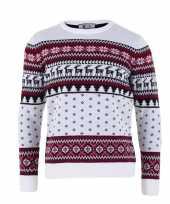 Witte kersttrui volwassenen nordic print