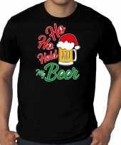 Zwart kerstrui kerstkleding ho ho hold my beer heren grote maten